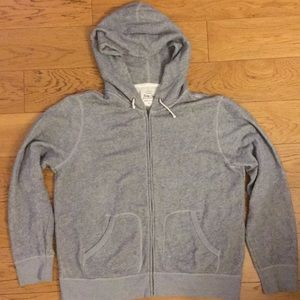 J. Crew Zippered Hood Sweatshirt